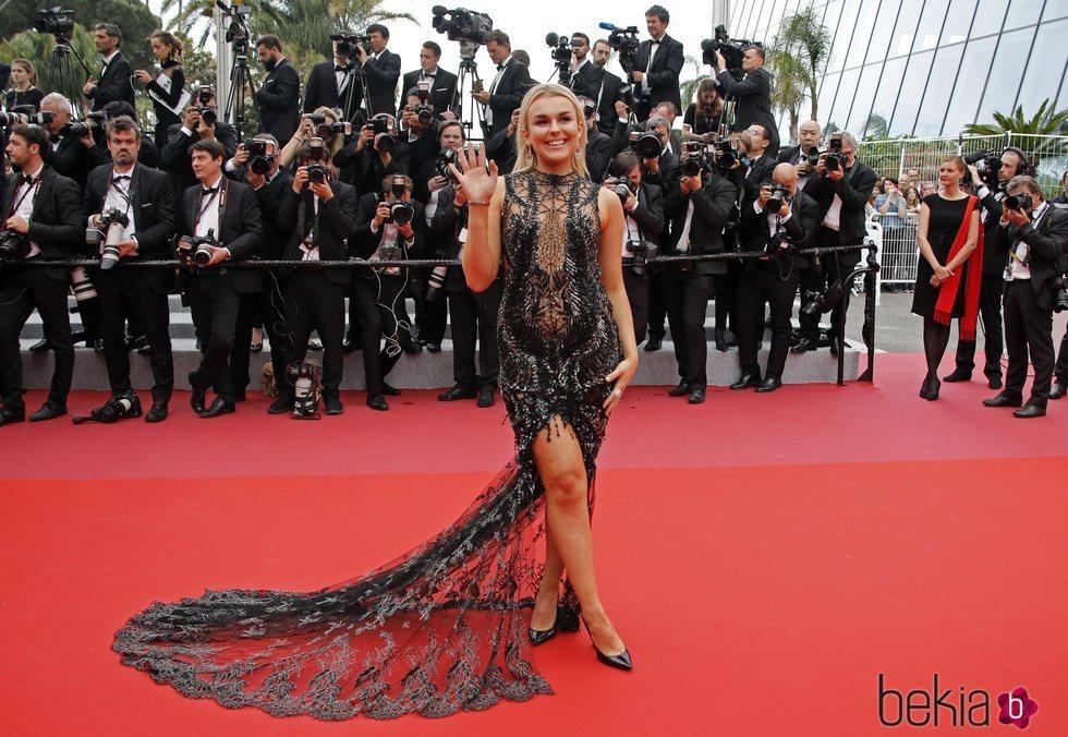 Tallia Storm en la alfombra roja del Festival de Cannes de 2018