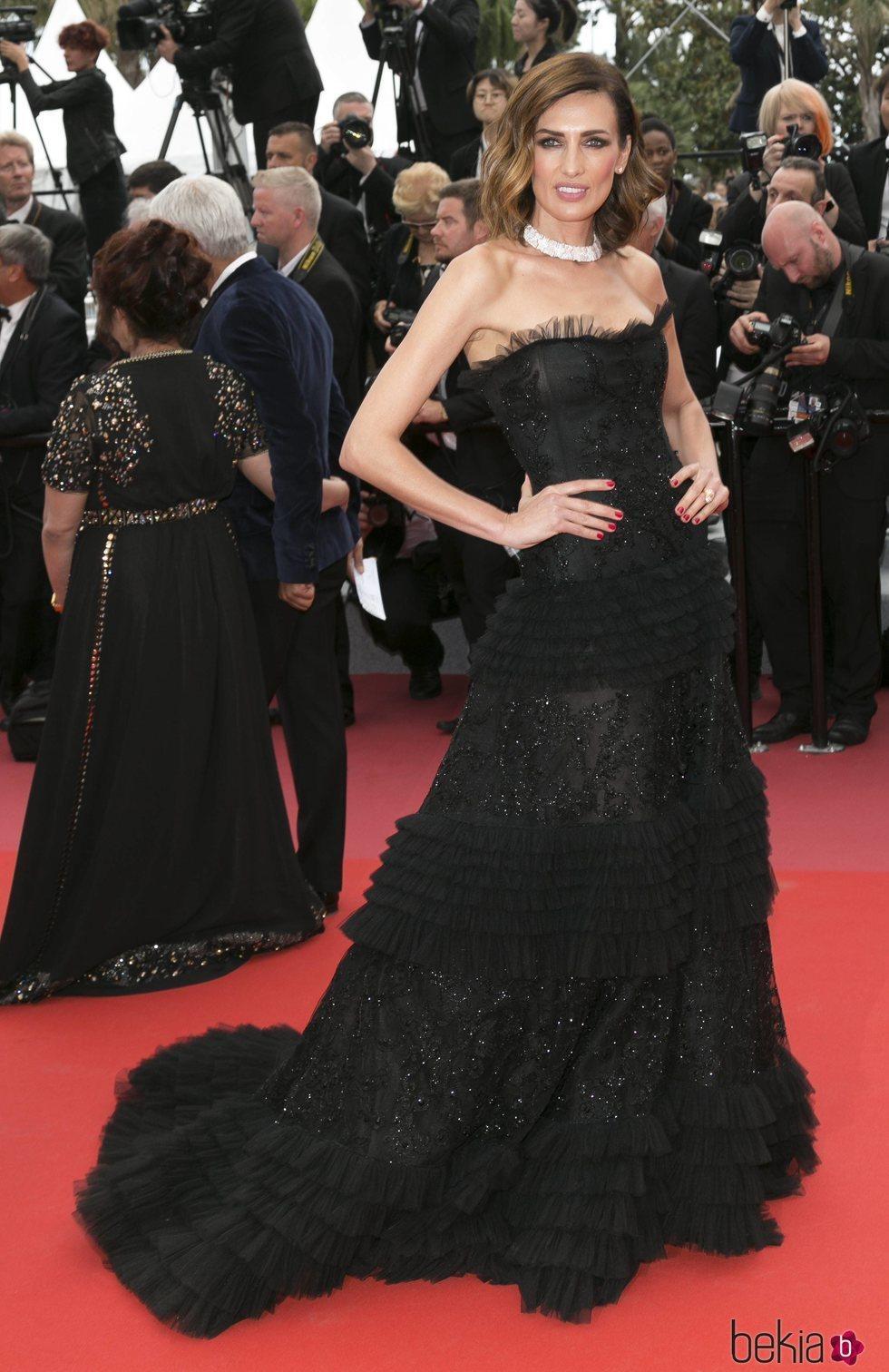 Nieves Álvarez en la alfombra roja del Festival de Cannes de 2018