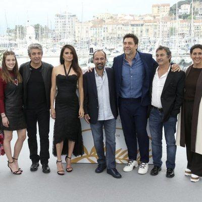 El reparto de la película 'Todos lo saben' en el Festival de Cannes de 2018