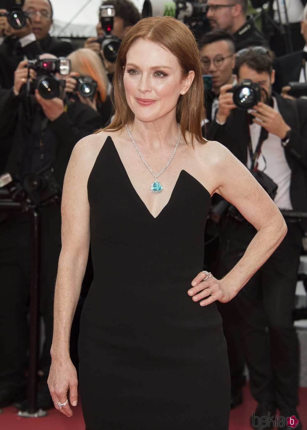 Julianne Moore en la alfombra roja del Festival de Cannes de 2018