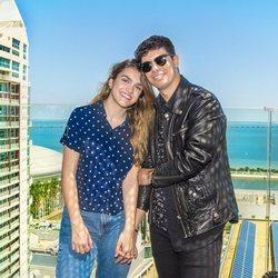 Alfred y Amaia durante su jornada de atención a la prensa en Lisboa antes de Eurovisión 2018