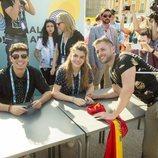 Alfred y Amaia en un encuentro con sus fans en Lisboa antes de Eurovisión 2018
