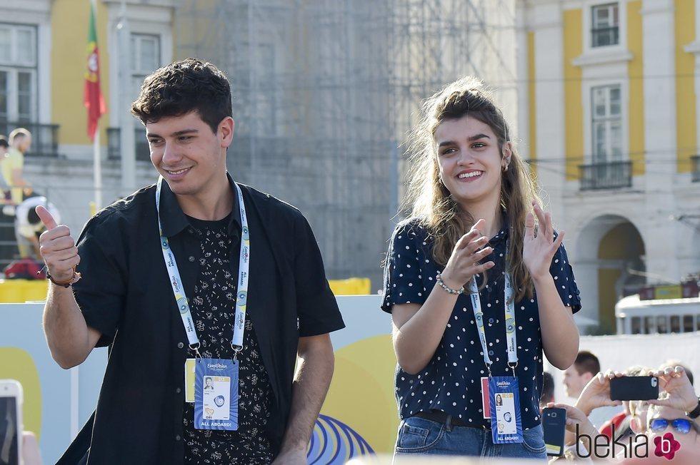 Alfred y Amaia disfrutan de un encuentro con sus fans en Lisboa antes de Eurovisión 2018
