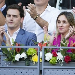 Albert Rivera y Beatriz Tajuelo en el Madrid Open 2018