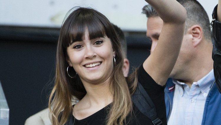 Aitana Ocaña saludando en el Madrid Open 2018