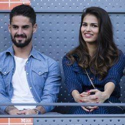 Isco Alarcón y Sara Sálamo viendo uno de los partidos del Madrid Open 2018