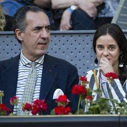 Victoria Federica con su padre Jaime de Marichalar en el Madrid Open 2018