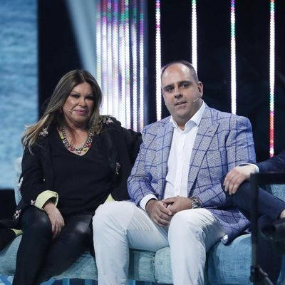 Julio Ruz y Paca, la mujer de Francisco, en la gala 9 de 'Supervivientes 2018'