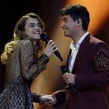 Amaia y Alfred durante su actuación en la final de Eurovisión 2018