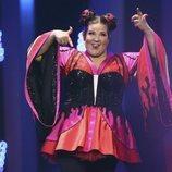 Netta durante su actuación en la final de Eurovisión 2018