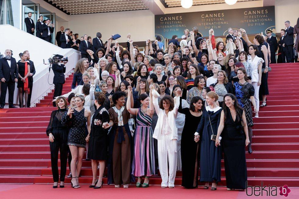 Mujeres del mundo del cine en la reivindicativa alfombra roja del Festival de Cannes 2018