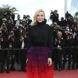 Cate Blanchett en la alfombra roja de la película 'BlacKkKlansman' en el Festival de Cannes de 2018