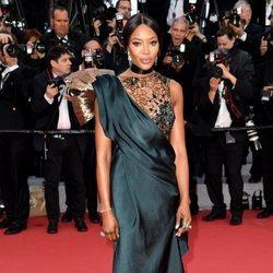 Naomi Campbell en la alfombra roja de la película 'BlacKkKlansman' en el Festival de Cannes de 2018