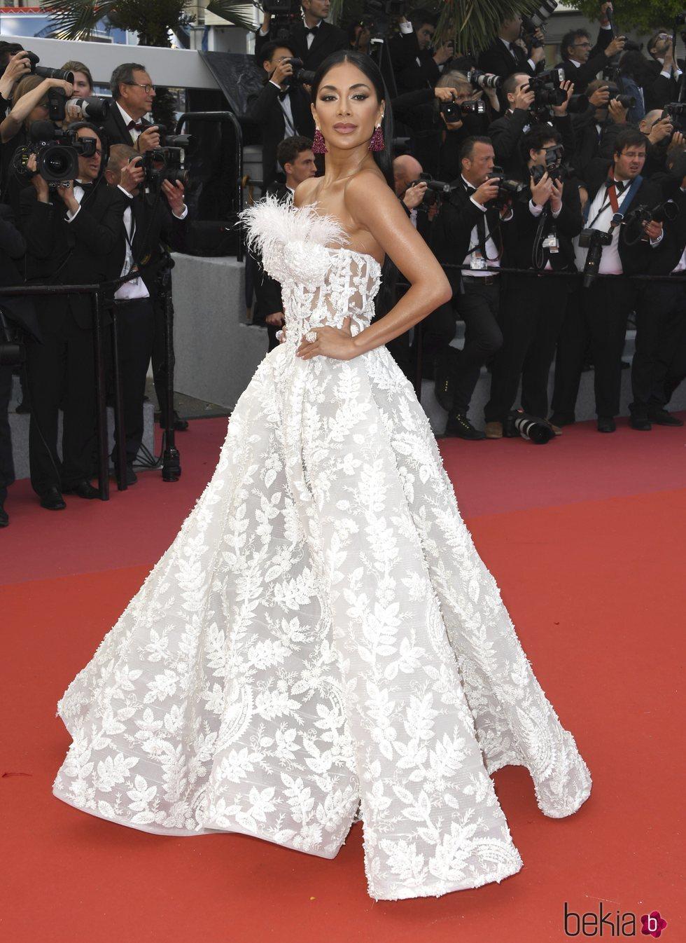Nicole Scherzinger en la alfombra roja de la película 'BlacKkKlansman' en el Festival de Cannes de 2018