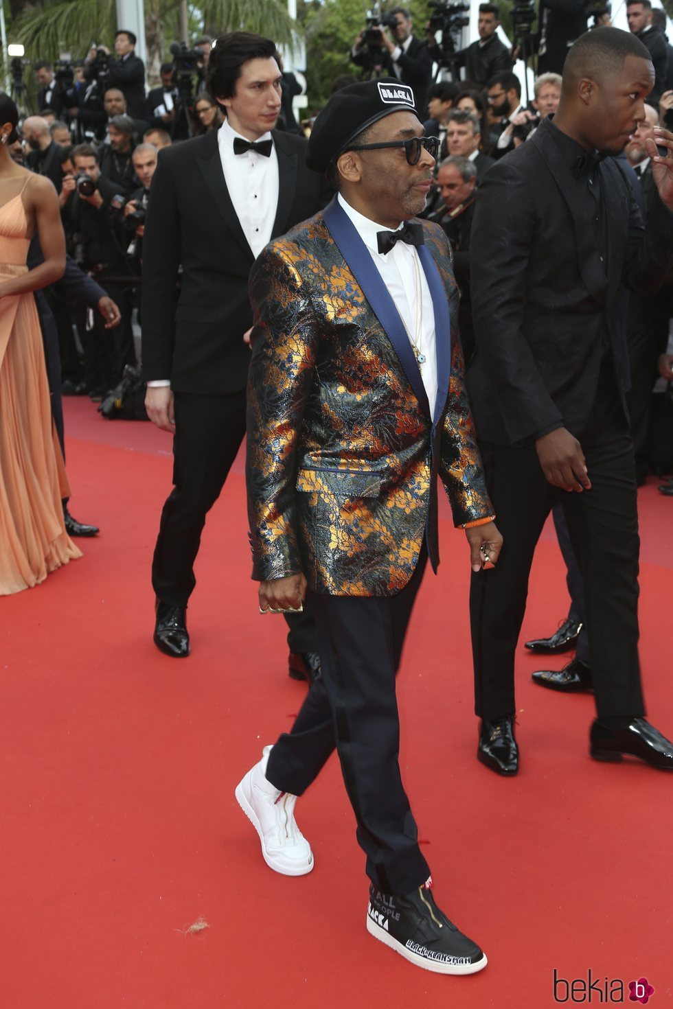 Spike Lee en la alfombra roja de la película 'BlacKkKlansman' en el Festival de Cannes de 2018