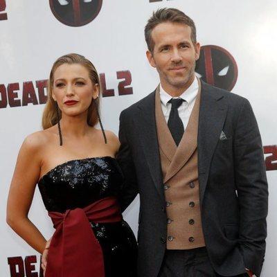 Ryan Reynolds y Blake Lively durante la promoción de 'Deadpool 2' en Nueva York
