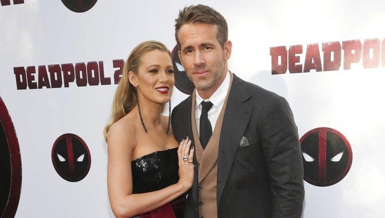 Blake Lively y Ryan Reynolds durante la promoción de 'Deadpool 2' en Nueva York