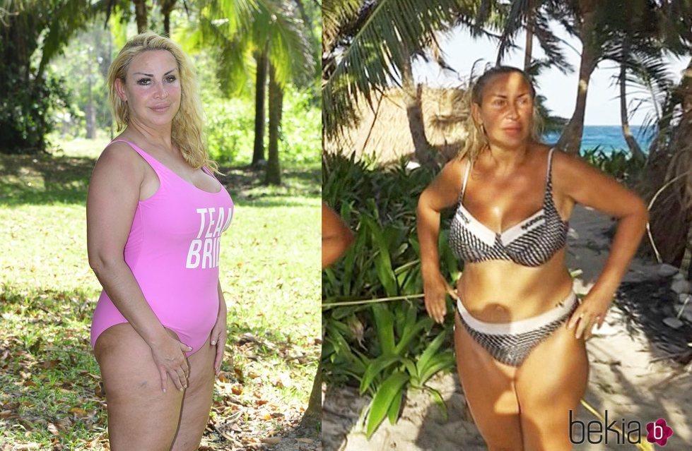 El antes y el después de Raquel Mosquera tras su paso por 'Supervivientes 2018'