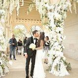 Primer beso de Cesc Fábregas y Daniella Semaan como marido y mujer