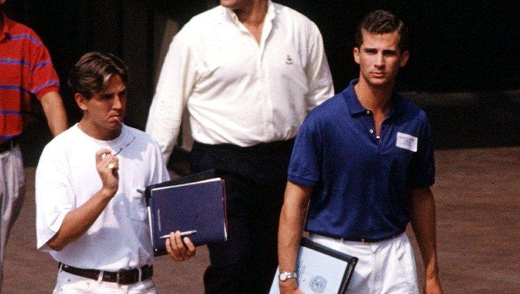 Felipe de Borbón y Pablo de Grecia durante sus años de estudiantes en Georgetown