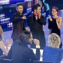David Bustamante y Yana Olina compartiendo miradas cómplices en 'Bailando con las estrellas'