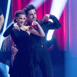 Yana Olina y David Bustamante comenzando a bailar en 'Bailando con las estrellas'