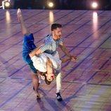 Pelayo Díaz durante su primera actuación en 'Bailando con las estrellas'