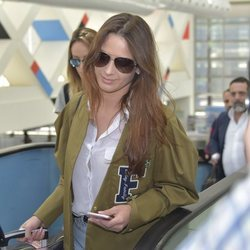 Yana Olina llegando a Madrid