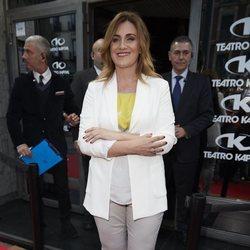 Carlota Corredera llegando a la fiesta de Belén Esteban tras ganar su batalla judicial a Toño Sanchís