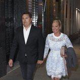 Belén Esteban con su novio Miguel llegando a su fiesta organizada tras su victoria judicial con Toño Sanchís