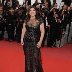 Dolores Aveiro en la alfombra roja del Festival de Cannes 2018