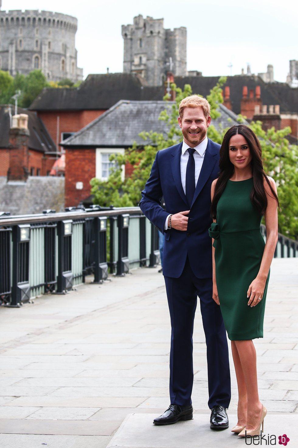 Las figuras de cera del Príncipe Harry y Meghan Markle en Windsor