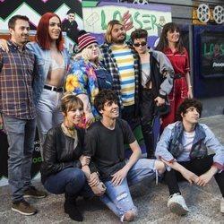 Soy una Pringada, Los Javis, Gisela y el resto del equipo de 'Looser' en la presentación de la serie en Madrid