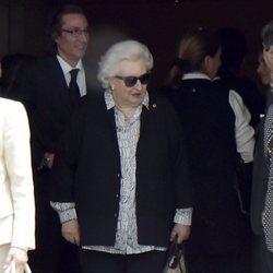 La Infanta Pilar y Fernando Gómez-Acebo durante el entierro de Alfonso Moreno de Borbón