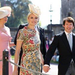 James Blunt y Sofia Wellesley en la boda del Príncipe Harry y Meghan Markle