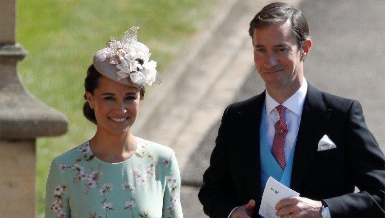 Pippa Middleton y James Matthews en la boda del Príncipe Harry y Meghan Markle