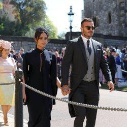 David Beckham y Victoria Beckham en la boda del Príncipe Harry y Meghan Markle
