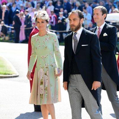 James y Pippa Middleton en la boda del Príncipe Harry y Meghan Markle