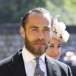 Primer plano de James Middleton en la boda del Príncipe Harry y Meghan Markle