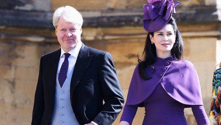 El Conde Spencer y su esposa Karen en la boda del Príncipe Harry y Meghan Markle