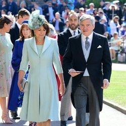 Michael y Carole Middleton acuden a la boda del Príncipe Harry y Meghan Markle