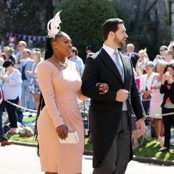 Serena Williams junto a su marido en la boda del Príncipe Harry y Meghan Markle