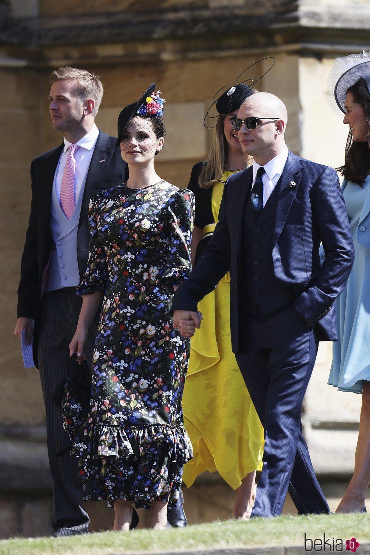 Tom Hardy y Charlotte Riley en la boda del Príncipe Harry y Meghan Markle