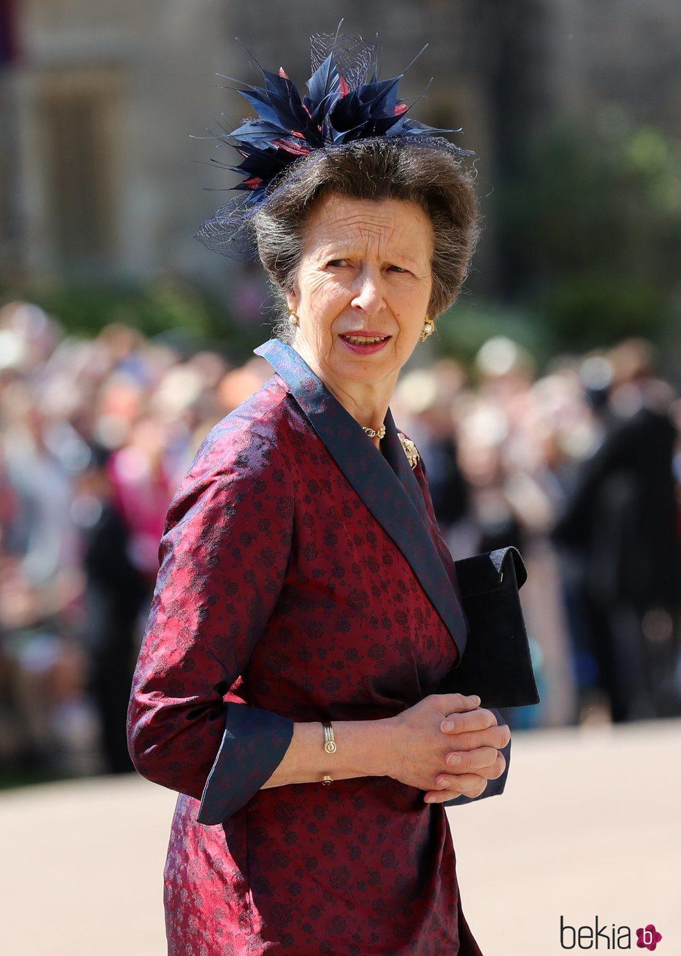La Princesa Ana en la boda del Príncipe Harry y Meghan Markle
