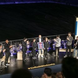 Homenaje de despedida a Andrés Iniesta