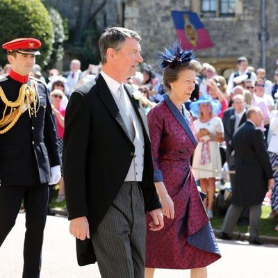 La Princesa Ana y Sir Timothy Laurence en la boda del Príncipe Harry y Meghan Markle