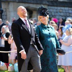 Zara Phillips y Mike Tindall en la boda del Príncipe Harry y Meghan Markle