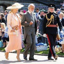 Los Príncipes Michael de Kent llegando a la boda del Príncipe Harry y Meghan Markle