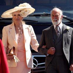 Los Príncipes Michael de Kent en la boda del Príncipe Harry y Meghan Markle
