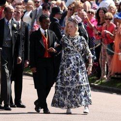 Los Duques de Kent llegando a la boda del Príncipe Harry y Meghan Markle